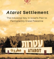 AtarotSettlement: The Industrial Key in Israel's Plan to Permanently Erase Palestine