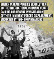 Sheikh Jarrah Families Send Letter to the International Criminal Court Calling for Urgent Investigation of their Imminent Forced Displacement, Endorsed by 190 Organisations