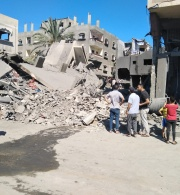 Ruthless Attack on Al-Rimal Neighbourhood, Gaza City, Israeli Occupying Forces (IOF) Targeted Civilian Residential, Commercial and Industrial Facilities throughout the Gaza Strip