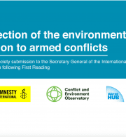 Joint Submission: Protection of the environment in relation to armed conflicts