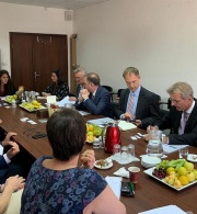 Palestinian Civil Society Meet with the German Minister of State at the German Federal Office