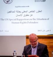 الحق تنظم لقاء مع المقرر الخاص للأمم المتحدة لحالة المدافعين عن حقوق الإنسان