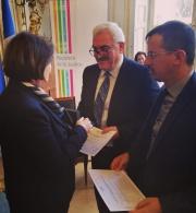 مؤسسة الحق تستلم جائزة الجمهورية الفرنسية لحقوق الانسان 2018
