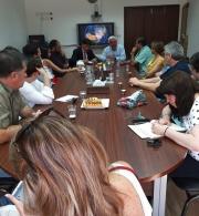 """""""الحق"""" تلتقي وفداً برلمانياً وإعلامياً من جمهورية التشيلي"""
