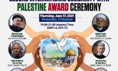 خلال مؤتمر التضامن الدولي الثاني مع فلسطين الحق تحصل على جائزة حقوق الانسان