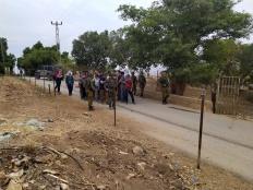 احتجاز مجموعة من الصحفيين والمتضامنين الأجانب أثناء وقفة احتجاجية في عين البيضا، الاغوار الشمالية. ٢٦ اكتوبر ٢٠١٩