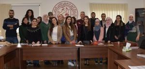 المشاركون في الدورة. تصوير: آدم المهر