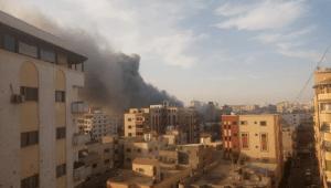 Israeli airstrikes over Gaza city on Sunday, 5 May 2019 – Al-Haq (c) 2019
