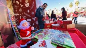 عيد الميلاد في غزة. الصورة عن hadafnews.ps