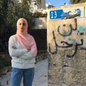 Muna El-Kurd, resident of Sheikh Jarrah, who is one of the Palestinians under imminent threat of forced eviction