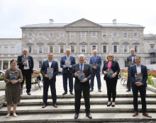 Photo: The Joint Oireachtas Committee on Foreign Affairs and Defence outside the Irish Parliament. https://bit.ly/3xHNadr