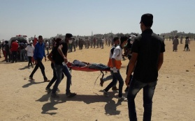 Israeli Occupying Forces Kill Three Palestinians in Gaza, Injure More than Two Hundred, as Palestinians Continue Protests in Gaza