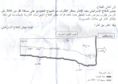 Israeli Military Drops Warning Leaflets on the Gaza Strip