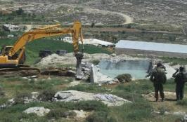 Six Water Cisterns Demolished near Hebron
