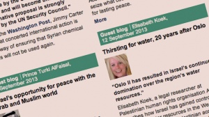 Thirsting for water, 20 years after Oslo