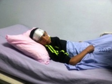 13-year Old Palestinian Shot in the Face with Rubber Bullet