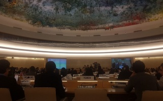 Al-Haq Attends 28th special session of the UN Human Rights Council and delivers joint oral intervention under the general debate, 18 May 2018 – Al-Haq (c) 2018.