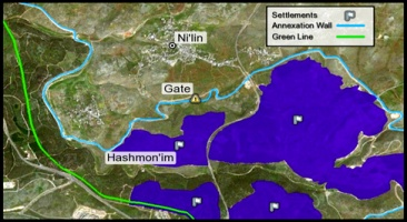 Palestinian-lands-in-Nilin-isolated-by-the-Annexation-Wall