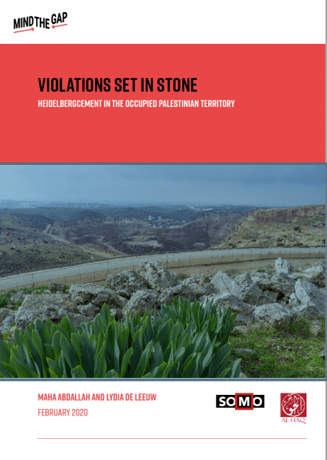 Violations Set in Stone: HeidelbergCement in the Occupied Palestinian Territory
